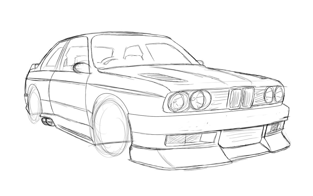 e30 m3 sketch 1 by dazza
