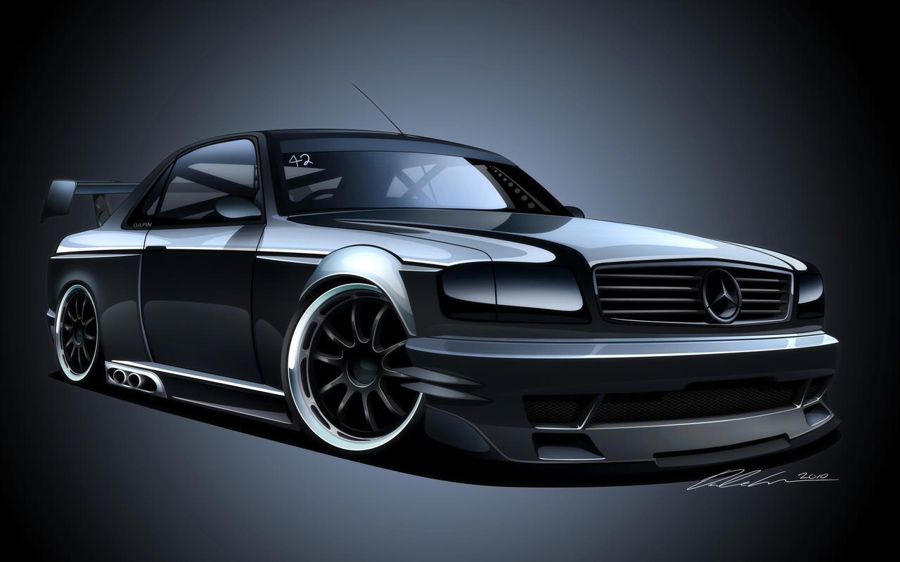 mercedes 500 sec by dazza mate on deviantart. Black Bedroom Furniture Sets. Home Design Ideas