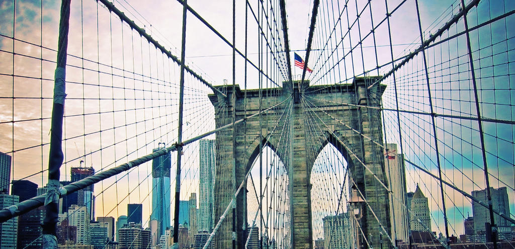 Brooklyn Bridge Skyline by emshore