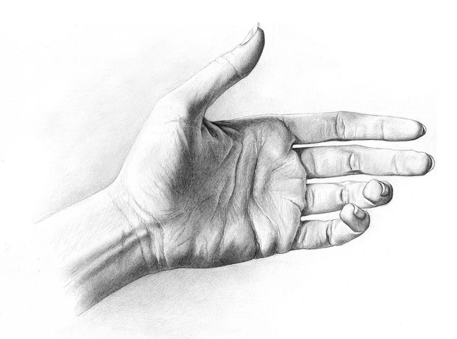 Drawing of my hand by theartfulmegalodon