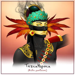 Godlings Faces - Tezcatlipoca by TheArtfulMegalodon