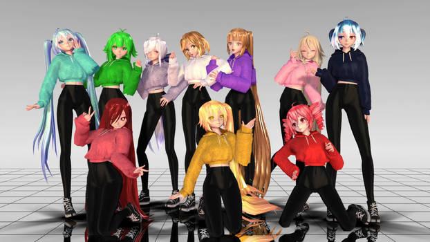 xX MMD Xx GYM Girls Pack DL DOWN by Yoko-ChanYT