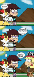 Leni caught in a Pokemon battle! by Painfulhail