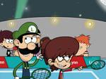 Lynn Playing tennis with Luigi!