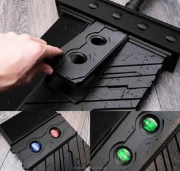 Cloud Strife Buster Sword Kit + RGB LED Materia