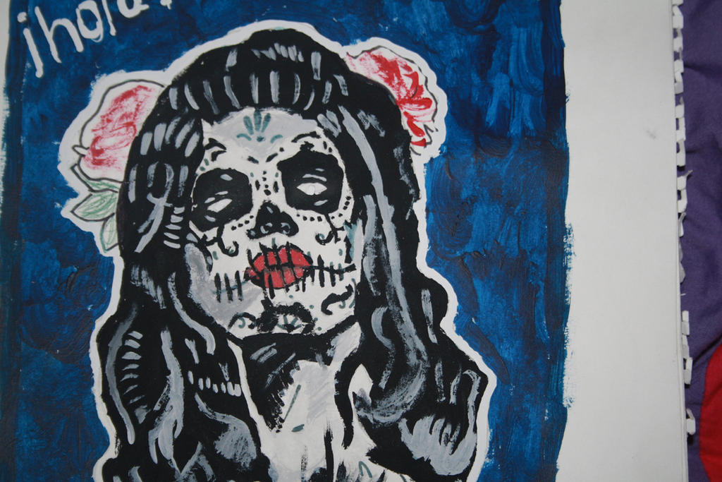 Day Of The Dead Women GCSE Art By Dork In