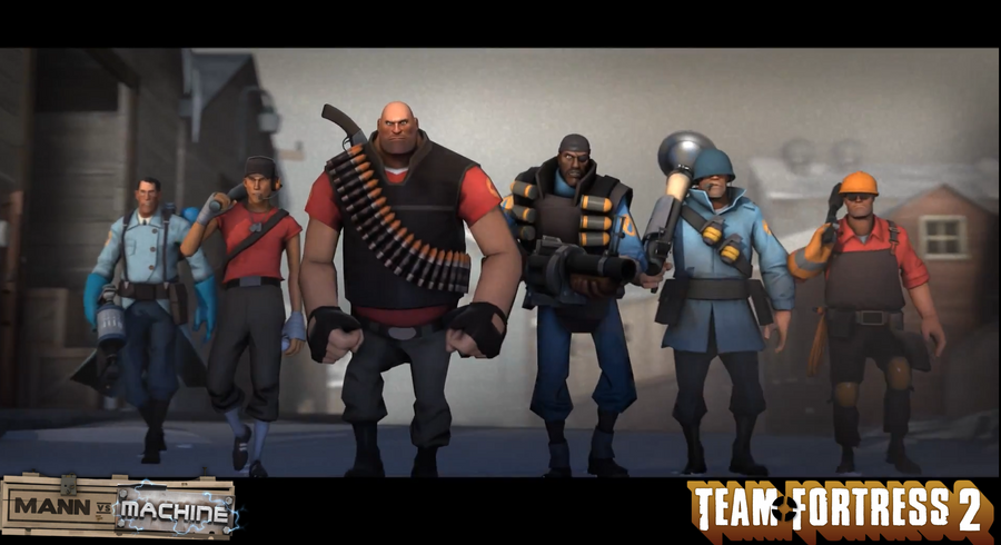 Team fortress 2 mann vs machine wallpaper by naxxramas1 - Tf2 logo wallpaper ...