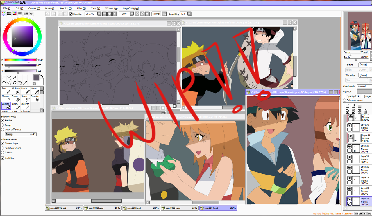 WIP 2 +commissios+ by aidmoon