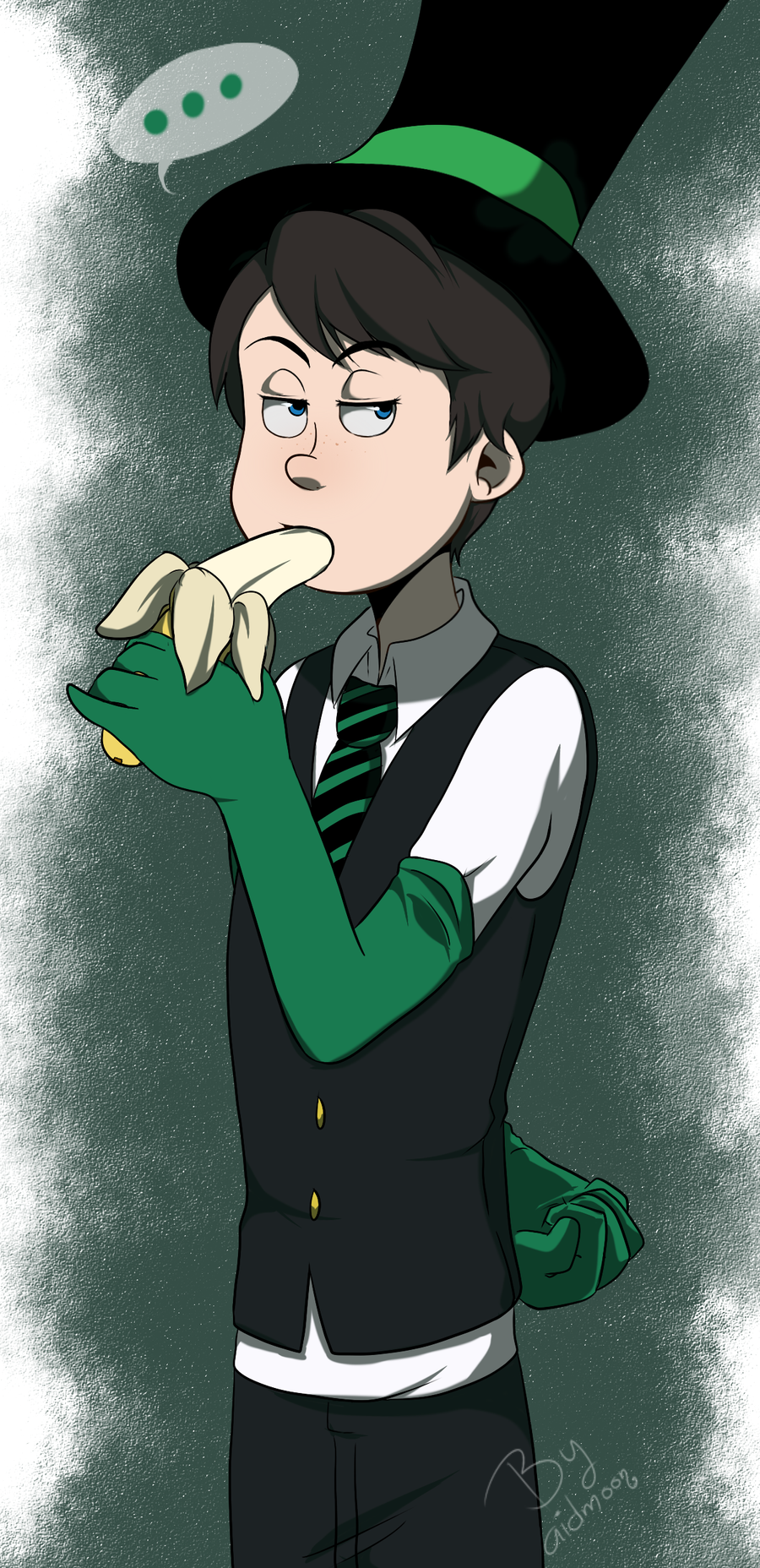 Eating banana [The lorax] by aidmoon
