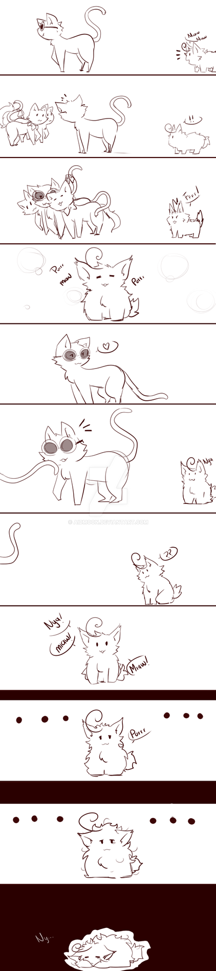 Cat Story [the lorax] by aidmoon