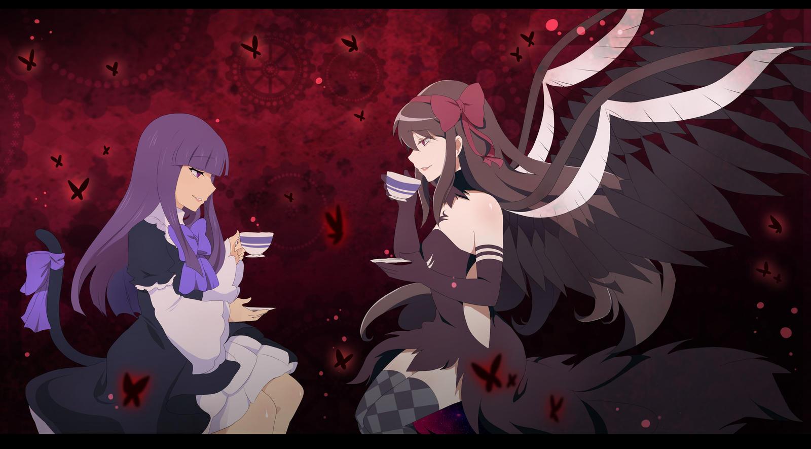 Tea party ??? [PMMxUmineko] by aidmoon