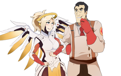 Mercy And Medic [Tf2 OW crossover]