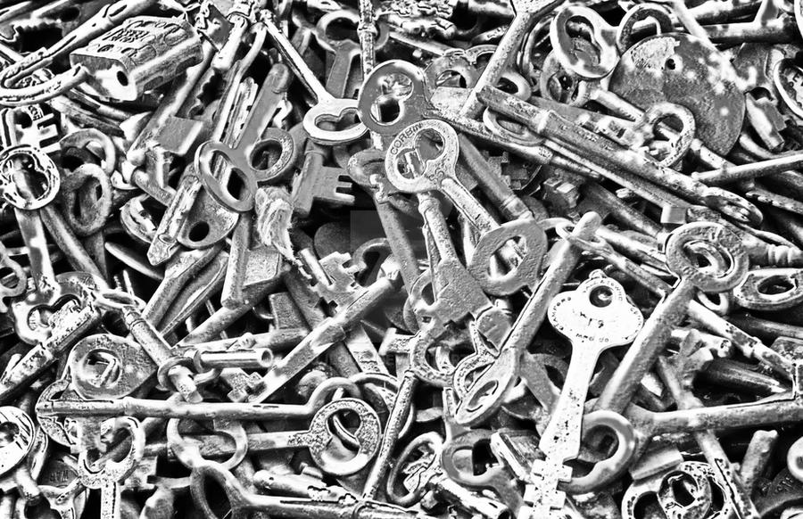 Antique Skeleton Keys by JJLouis