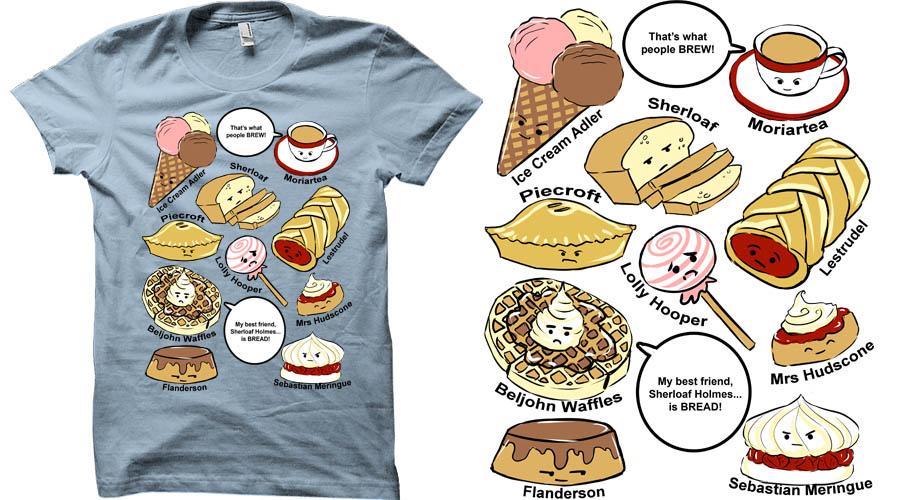 Sherlock - 221b Bakery Street Shirt design by Sombrewood