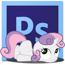 sweetie belle PhotoshopCS6 icon by LPSfreak