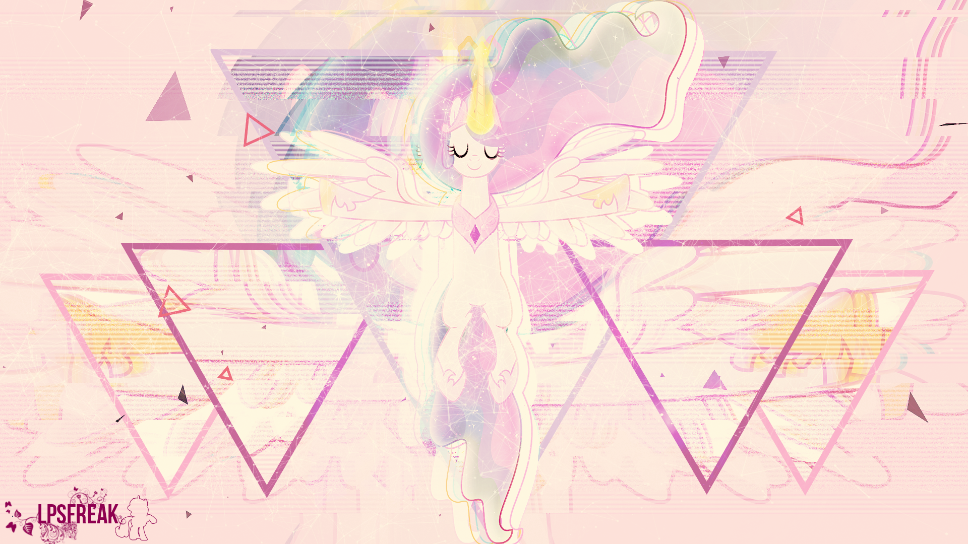 glitch celestia by LPSfreak