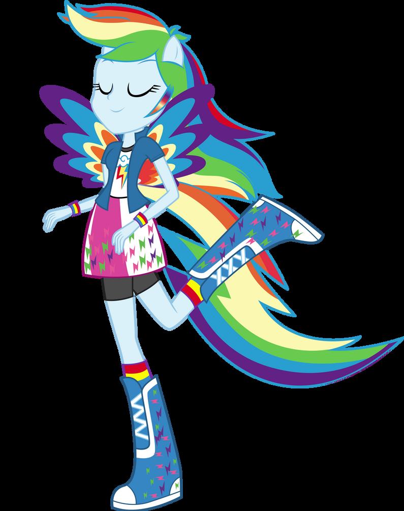 Rainbowfied Rainbow Dash By Illumnious