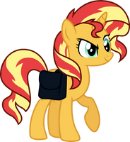 sneaky sunset shimmer by illumnious