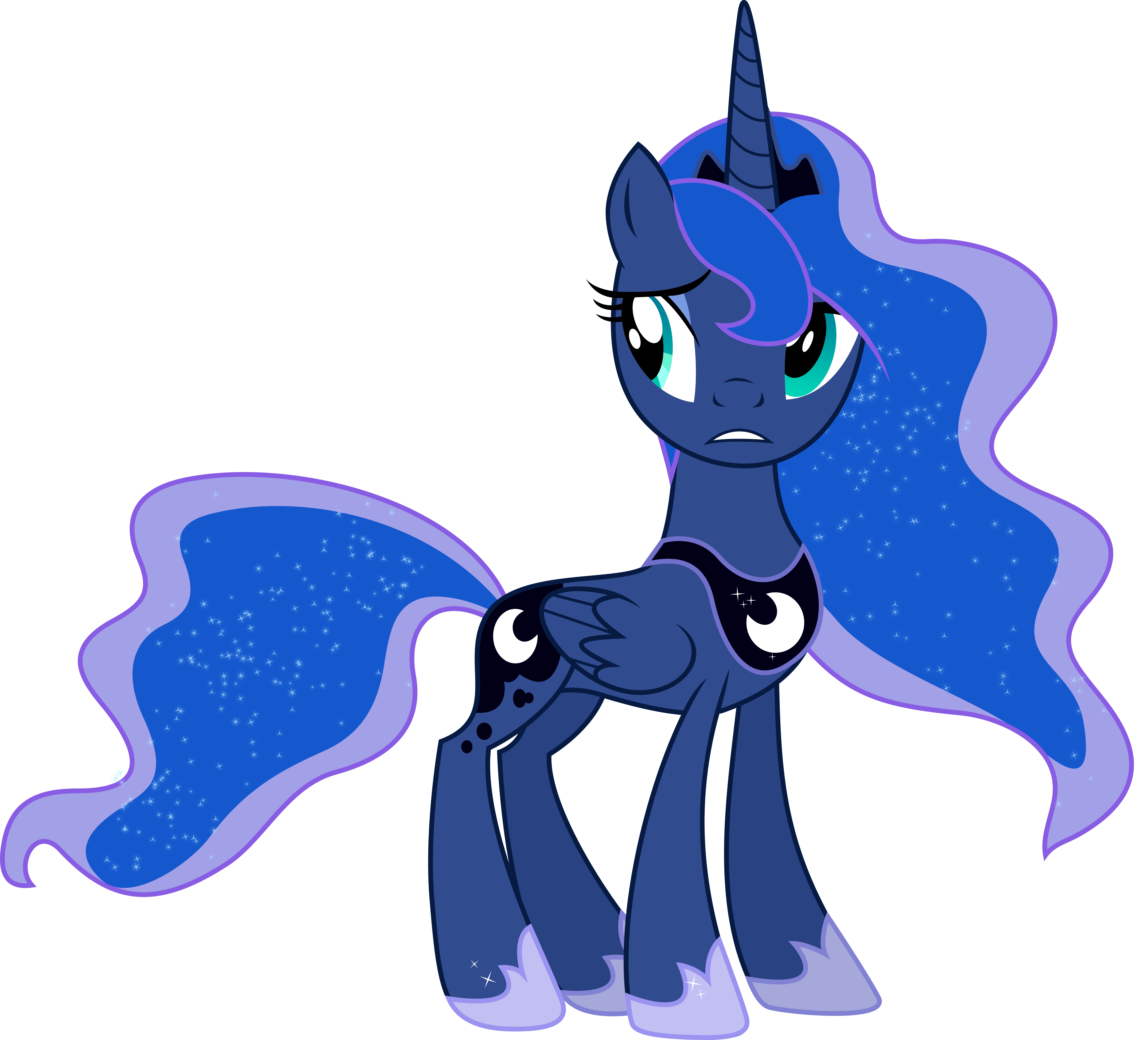 Worried Princess Luna
