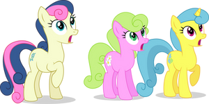 Three Background Ponies surprised
