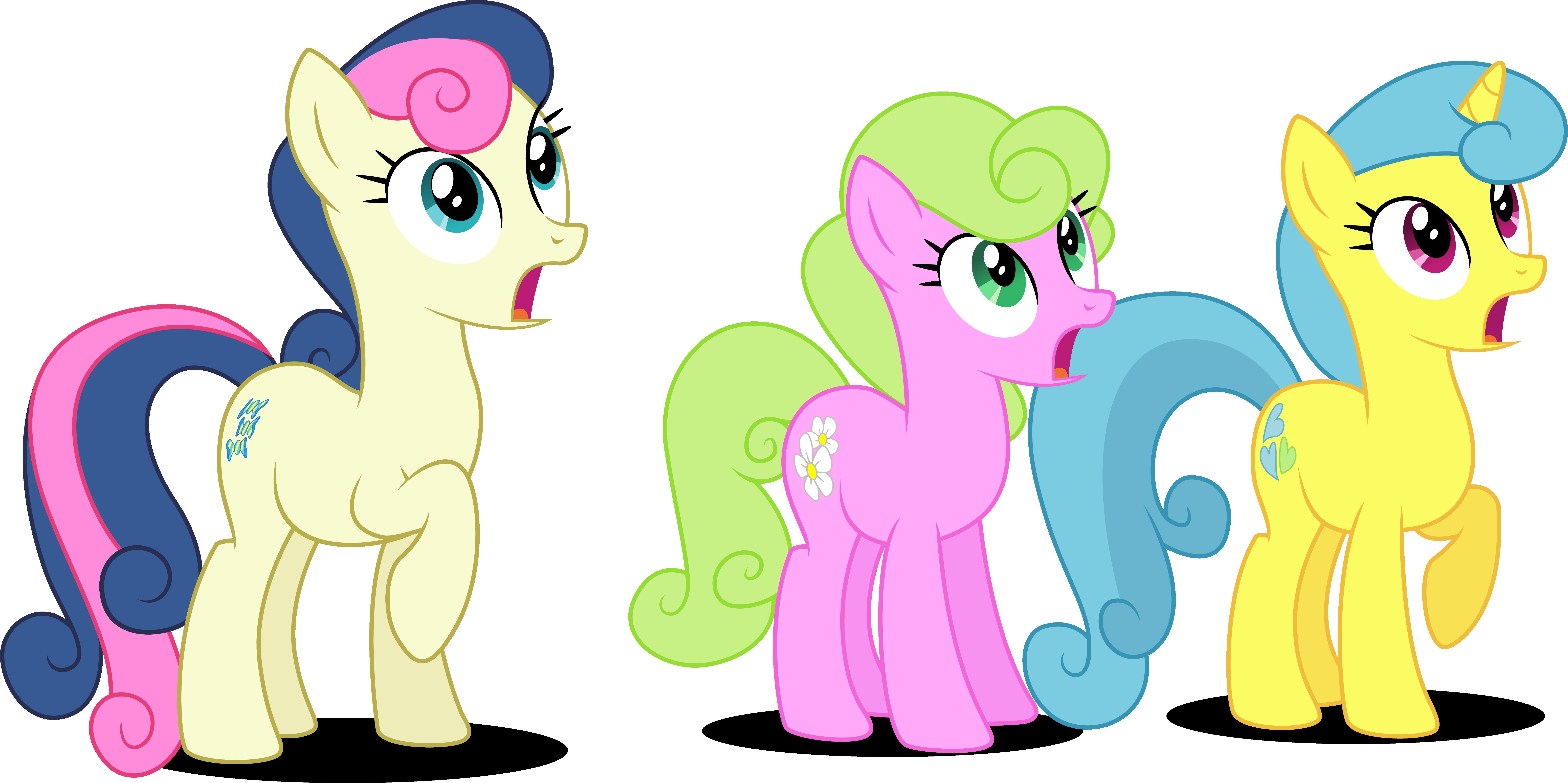 Three Background Ponies surprised