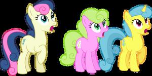 Three Background Ponies surprised by illumnious