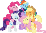 Mane 6 Group Hug