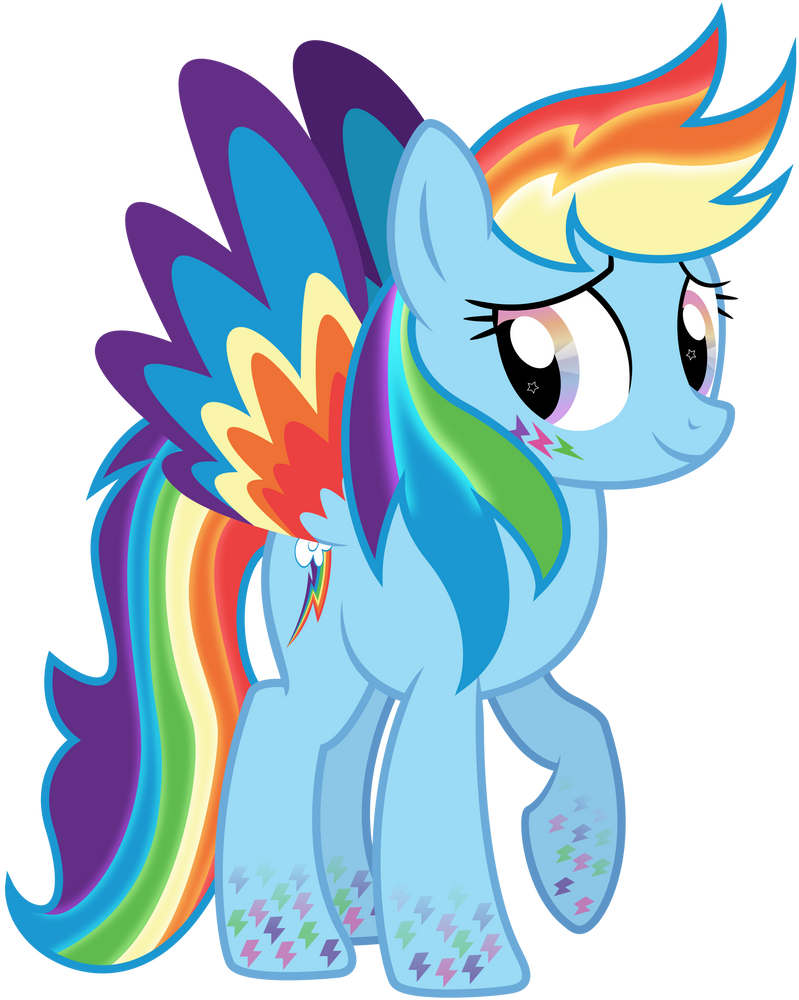 Rainbowfied Rainbow Dash Alt. Design by illumnious