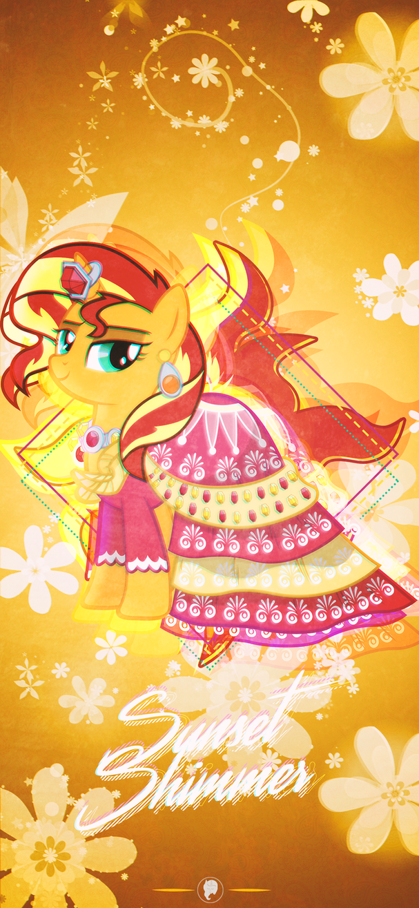 Sunset Shimmer iPhone XS Max Wallpaper by illumnious