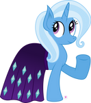 Trixie Wearing Starlight's Cape by illumnious