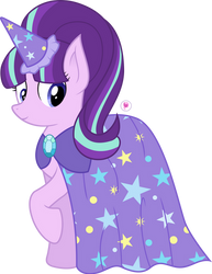 Starlight Wearing Trixie's Cape by illumnious
