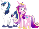 Cadance and shining amour by illumnious