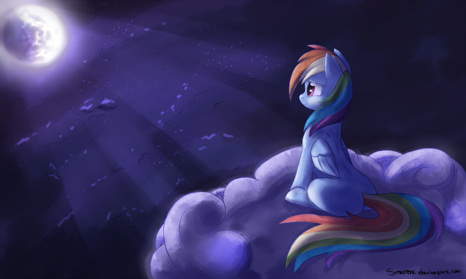 The Moon is Young by Sitrophe
