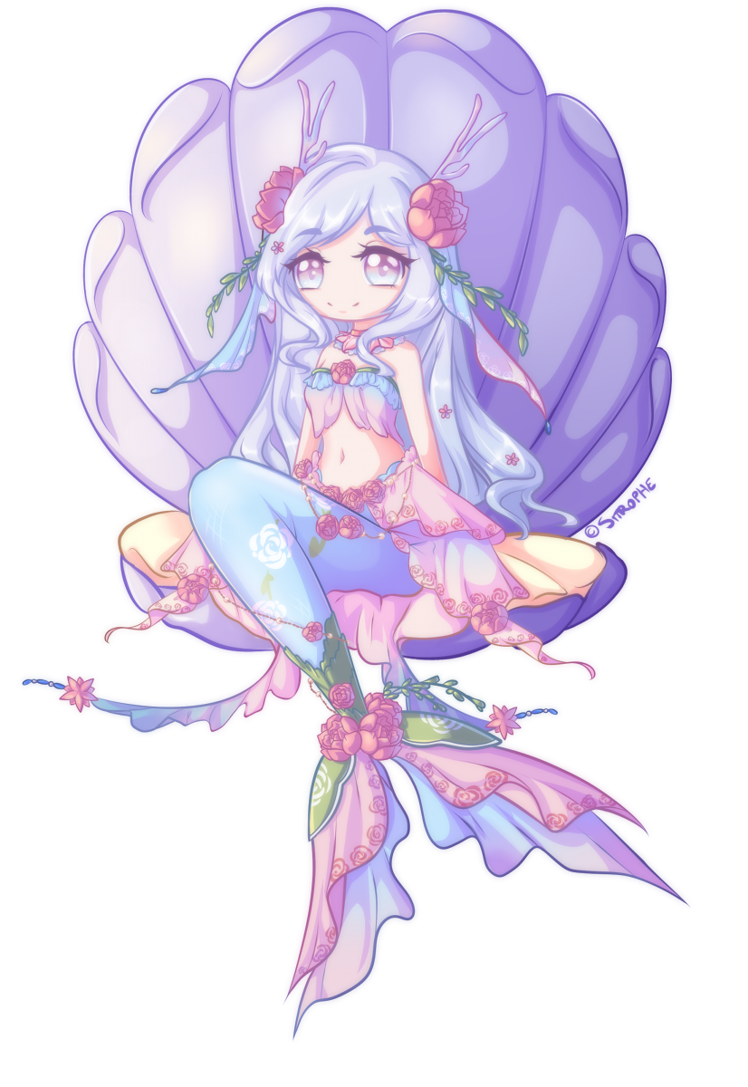 Ych Comm Chibi Gardenia Mermaid By Sitrophe On Deviantart