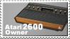 Atari 2600 Owner Stamp by JazzaX
