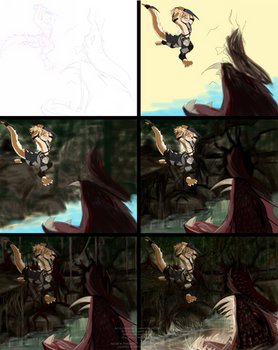 Deep in the jungle he attacks - WIP