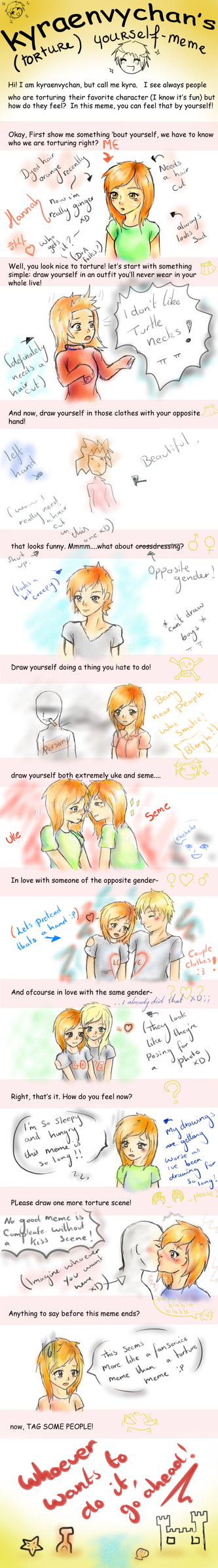 'Torture' yourself meme (Or Fansevice? ) by Mango-Kimchi