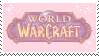 Pink World of Warcraft Stamp by Fruitily