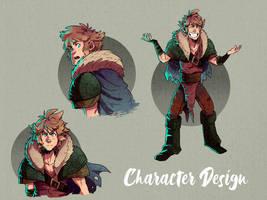 character design Nero Neufrania traje by cesararts