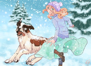 Frolic in the Snow by JubilantArts