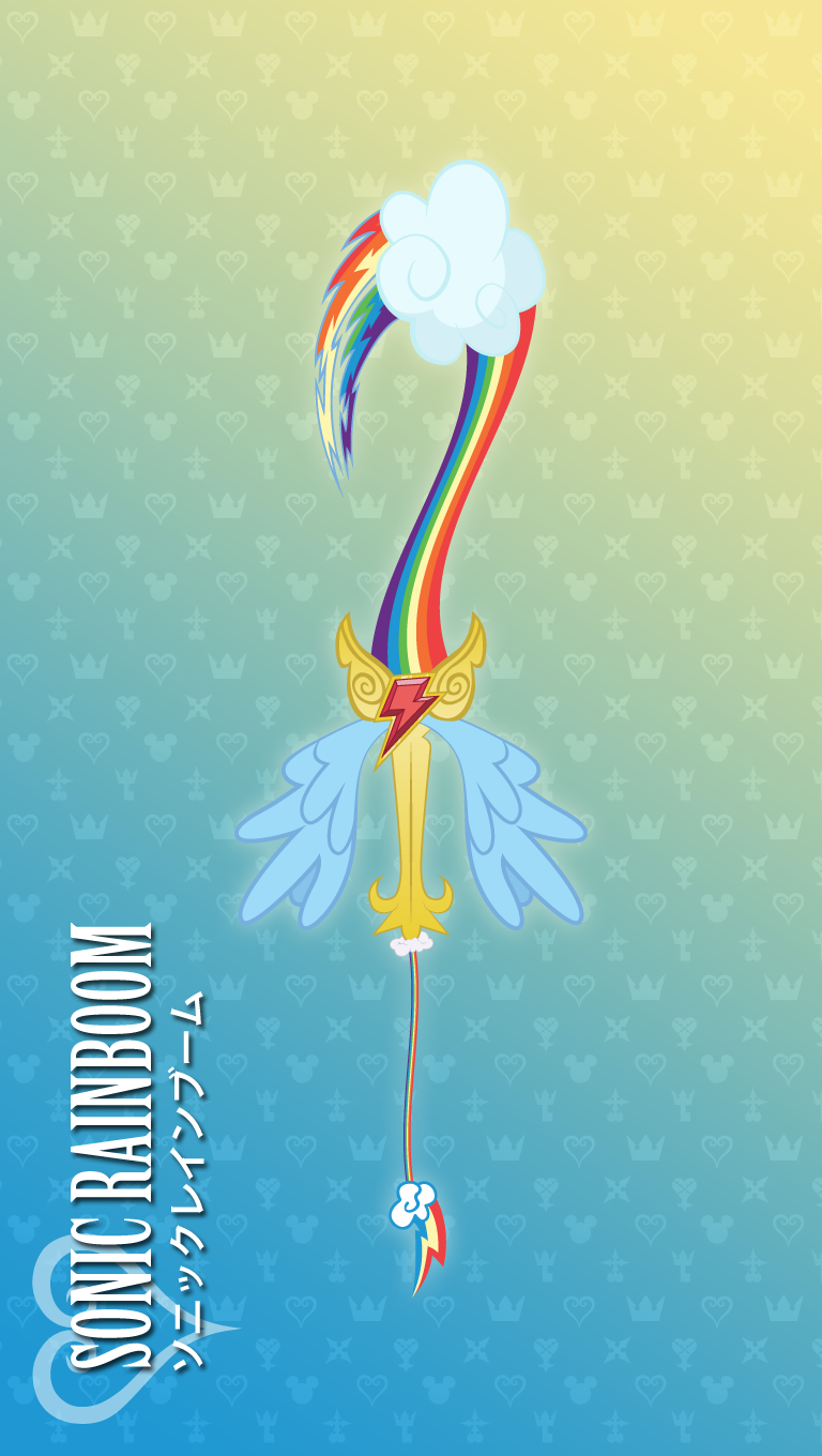 Rainbow Dash Keyblade Sonic Rainboom By Lexxiesia