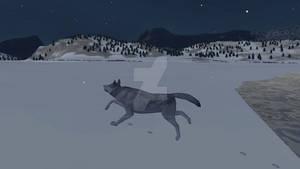 Wolfquest screenshot in the snow