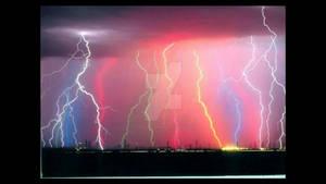 Rainbow colored lightning
