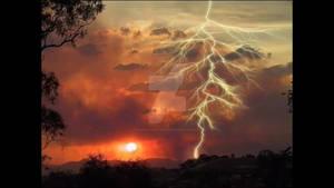 Amazing sun N lightning
