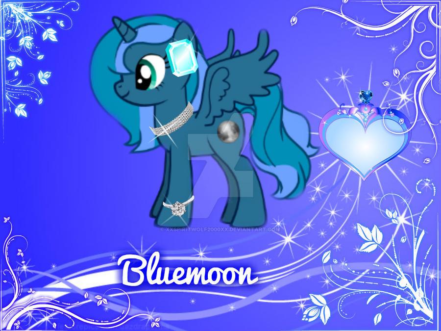 MLP OC: Blue moon