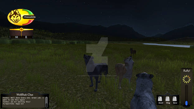 WolfQuest Screenshot: the midnight howl