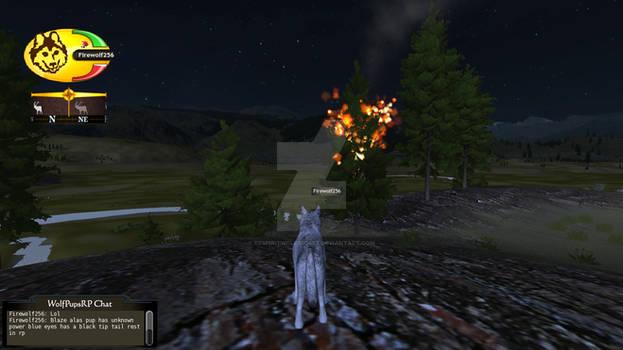 WolfQuest Screenshot: The Blazing Flame