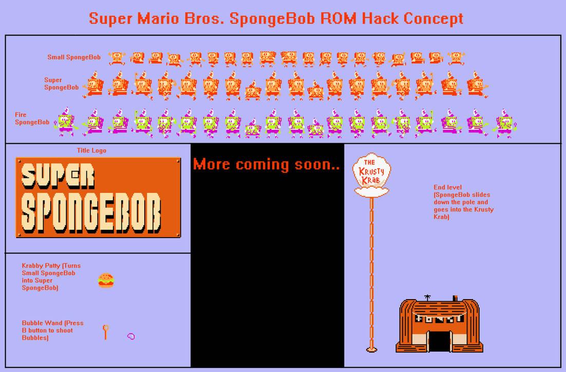 Super Mario Bros  NES ROM Hack Concept (SpongeBob by
