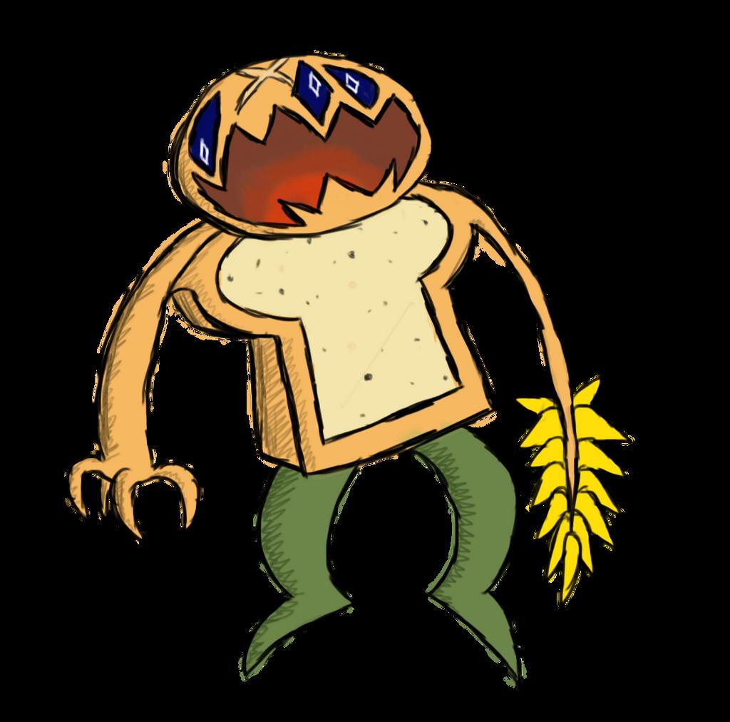 Bread Demon-Monster by ThermalTheorist