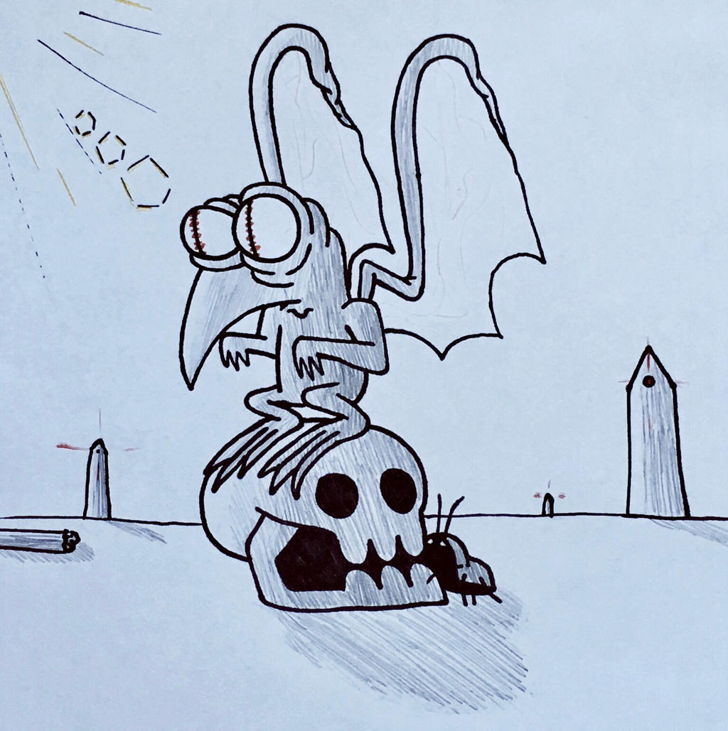 Buzzard Gargoyle Demon - September of Draws Day 15 by ThermalTheorist